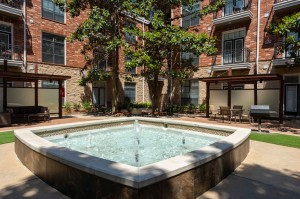 One Bedroom Apartments for Rent in Houston, TX - Outdoor Fountain View